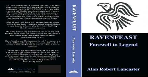 The cover of 'RAVENFEAST', re-published November, 2013 through New Generation Publishing