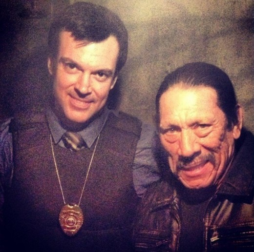 "Eric St. John with Danny Trejo in ""Bullet"""