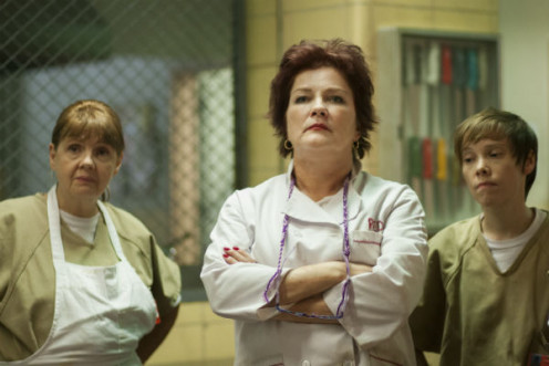 "Kate Mulgrew as Galina ""Red"" Rezniko."
