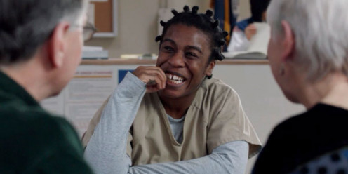 "Uzo Aduba as Suzanne ""Crazy Eyes"" Warren."