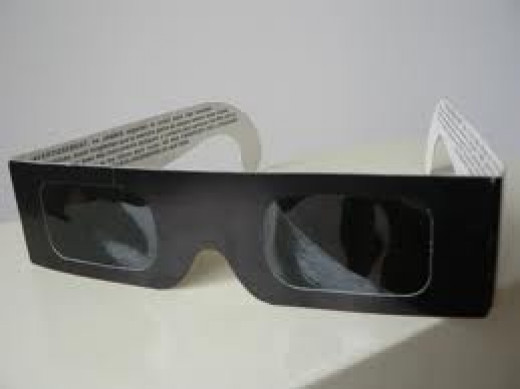 protect your eyes from direct view of sun