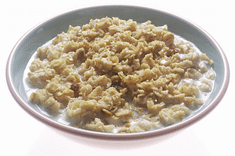 Oatmeal helps to relieve itching from a healing burn.