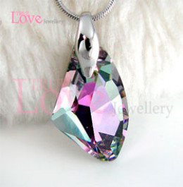 Another example of a beautiful Swarovski pendant with AB coating on it from Ebay for the easy-to-afford price of $12.99.