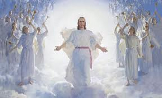 A wonderful image showing Jesus Christ as He may appear at His second coming in the sky.