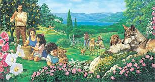 An image showing how life eternal in God's coming Kingdom may look like.