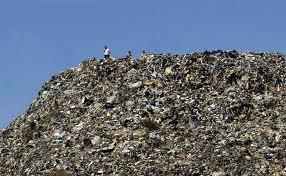 A huge trash dump.