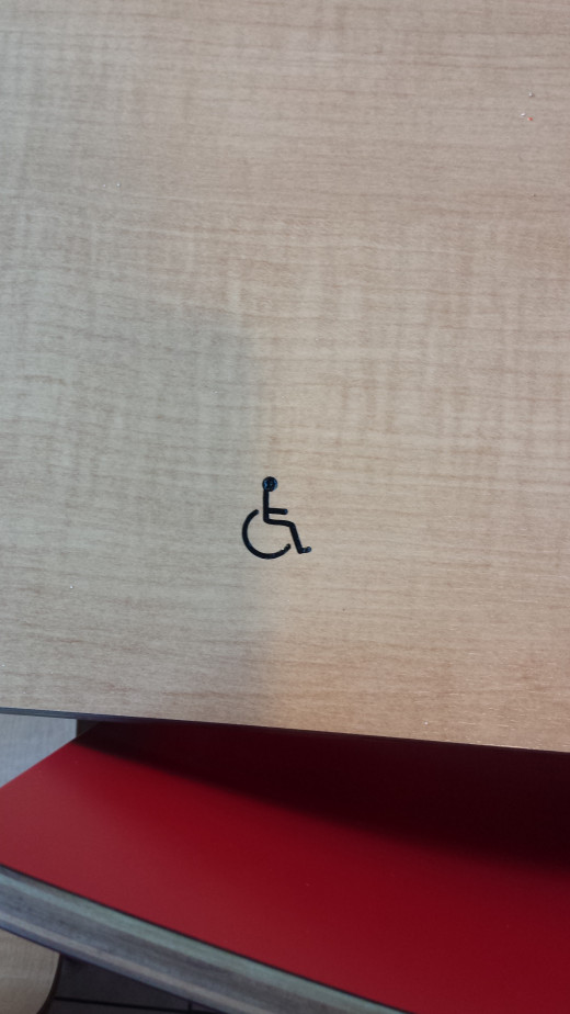 Wheel chair and handicapped friendly zones in eateries.