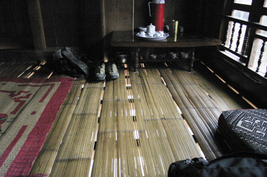 Split bamboo flooring