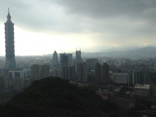 Taipei during thunderstorm.