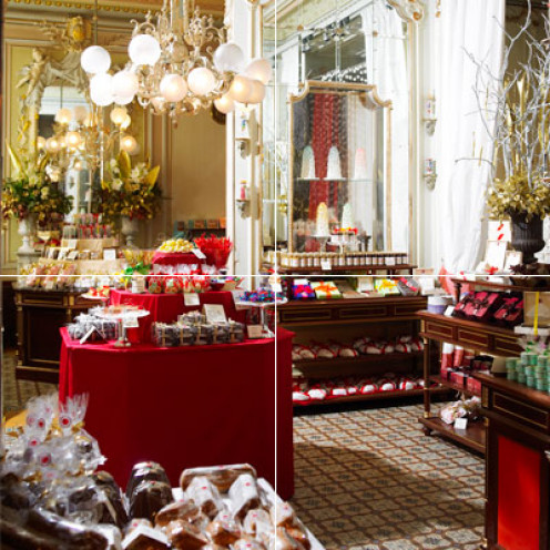 The famed Demel chocolate and pastry shop in Vienna, Austria.  Sacher torte is served here.