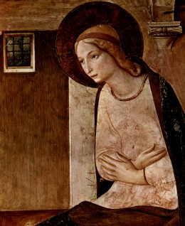 Mary, Mother of Jesus located Museo di San Marco dating to 1467 (Public Domain Wikimedia Commons)