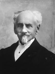 Franz Sacher in his later years.  He created the sacher torte in 1832, in Vienna, Austria.