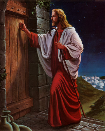Jesus knocks at a door