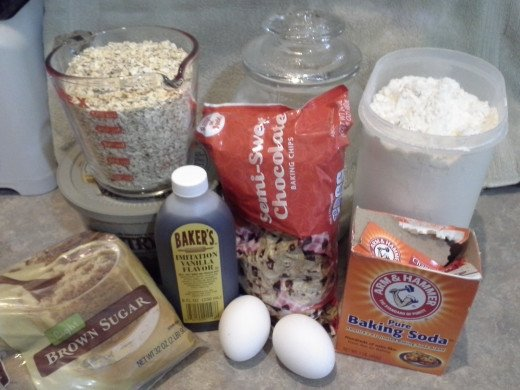 My Oatmeal Cookie Ingredients