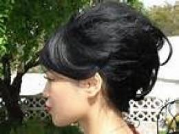 modern version of bees nest hairdo
