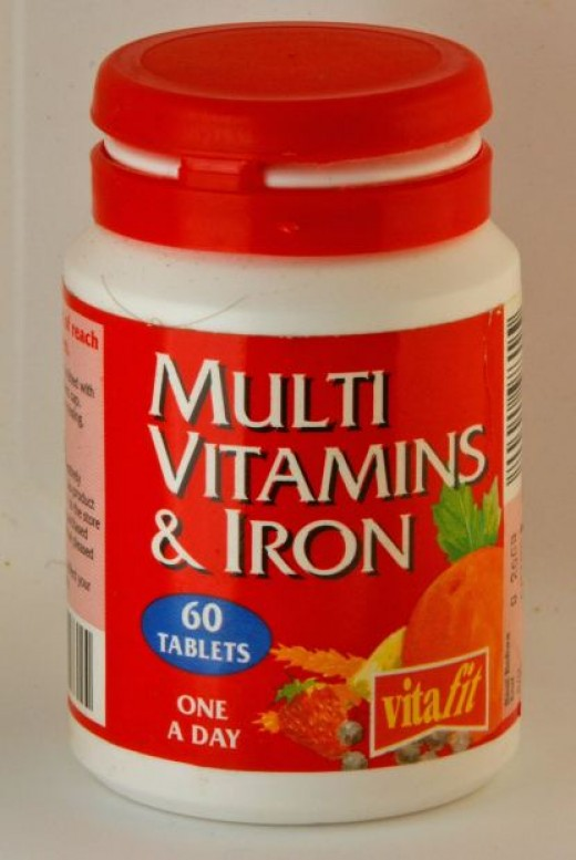 A multivitamin with added iron is recommended for people with particular health issues.