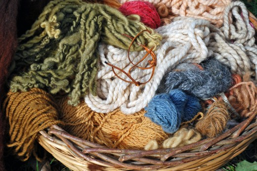 Stash of yarn