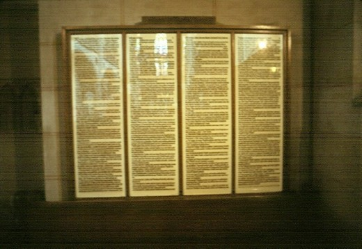 Luther's Ninety-Five Theses, on display in Whittenburg, Germany