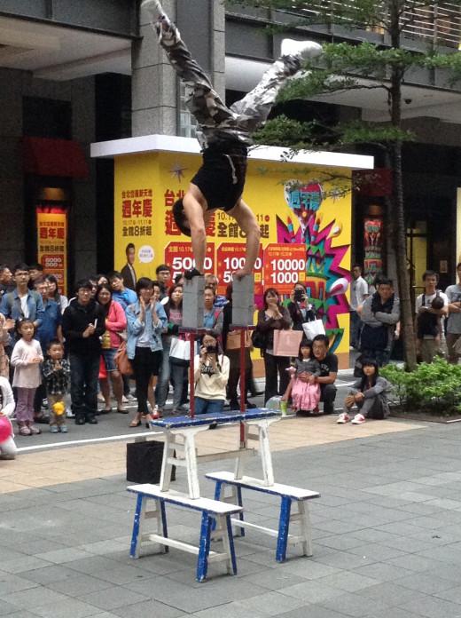 One of the amazing acrobats