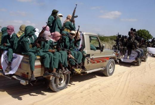 Al-Shebaab in Mogadishu