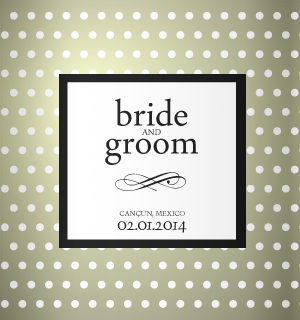 Black and white sophisticated design for your wedding koozies.