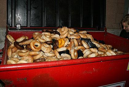 Dumpster full of food