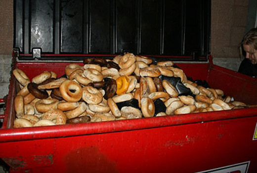 Dumpster full of food