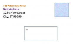 Create Address Change Cards. An added touch would be to print a photo of the house on the other side.