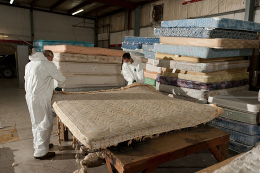 Mattress recycling center
