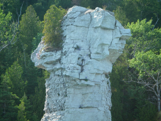 Unusual rock formation.