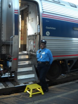 Amtrak train agent