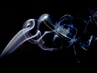 Incense smoke. Where the smoke flows, there's an air leak in the opposite direction