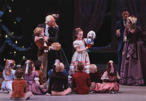 "Act I, Scene 1 from ""The Nutcracker Suite.""  Drosselmeyer  brings Christmas presents for Clara and Fritz."