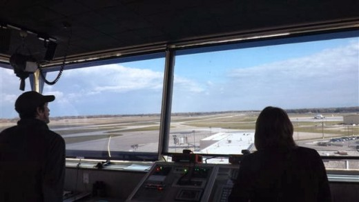 A view to the NorthEast out the Control Tower