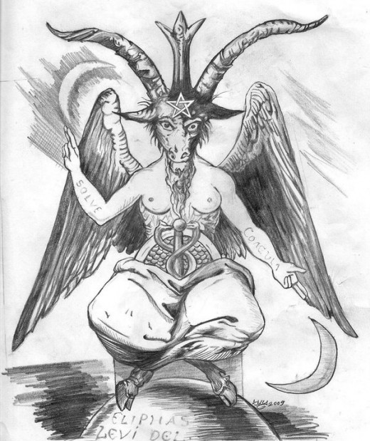 The baphomet, or satan.