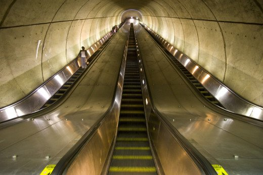 Dupont Circle Escalator.