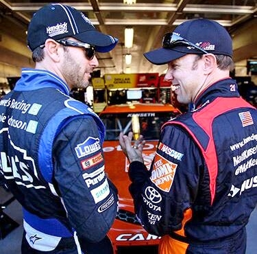 It's a two man race with Johnson and Kenseth left to battle for a championship