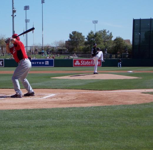 White Sox vs. Reds - 2013 Spring Training in Glendale Arizona.