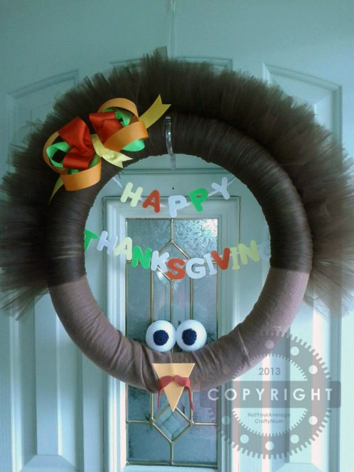 Check out my original tutorial for this wreath on my blog @ wordpress