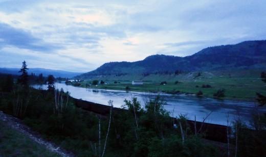 Chase Creek, dawn 12th May