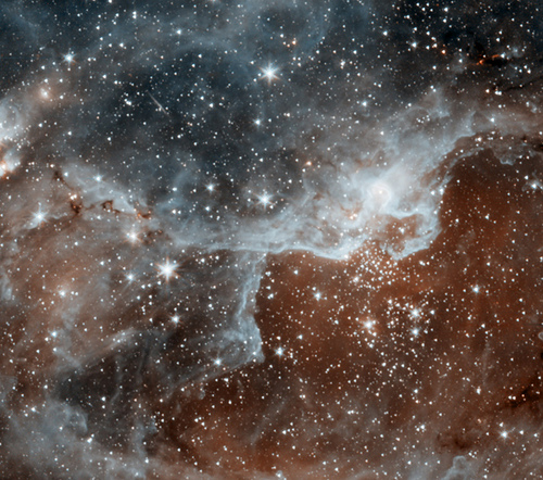 Spitzer image of a star forming region