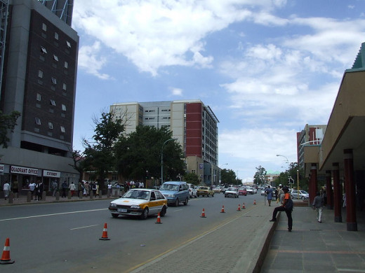 Maseru (place of the red sandstone) is the capital city of Lesotho