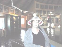 Me wearing a typical Basotho hat © Martie Coetser