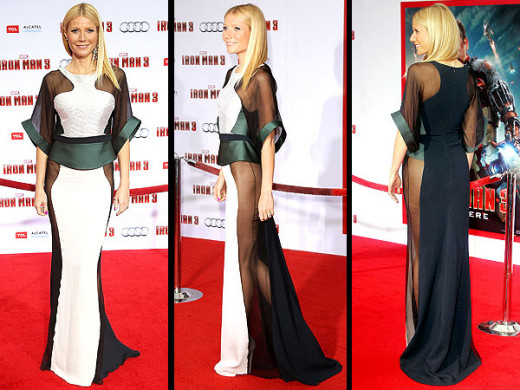 But Gwyneth Paltrow did it first at her Ironman 3 premiere wearing at Antonio Berardi gown.