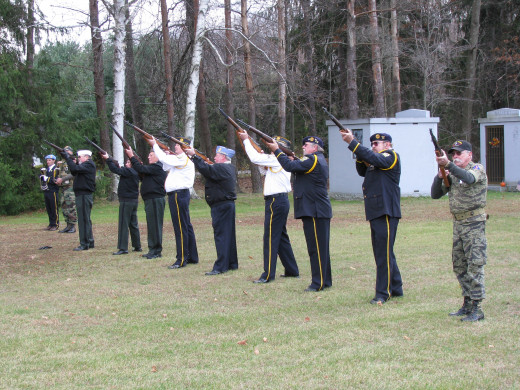 Twenty one gun salute