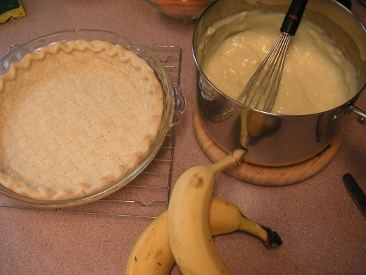 Set the cooked pudding aside to cool while you bake the crust.