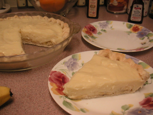 A nice blob of whipped cream makes this pie even more delicious!