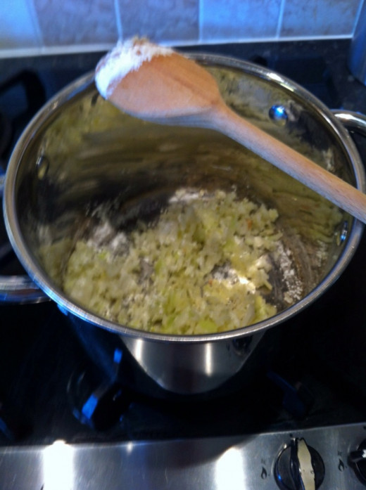 Cook onion and garlic for the sauce