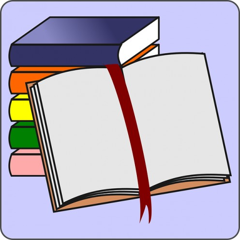 Student Icon Open Reading Cartoon Border Free