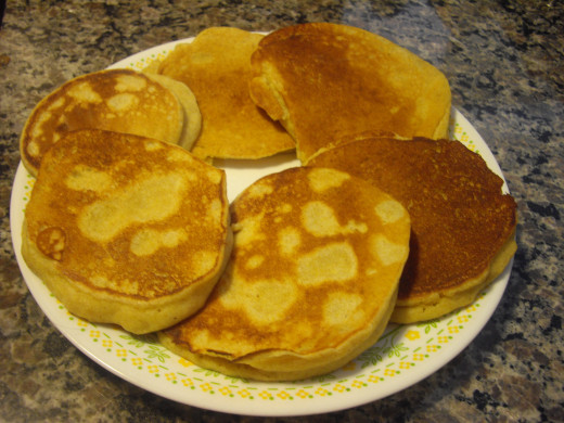 Plate of medium Cornbread Pancakes